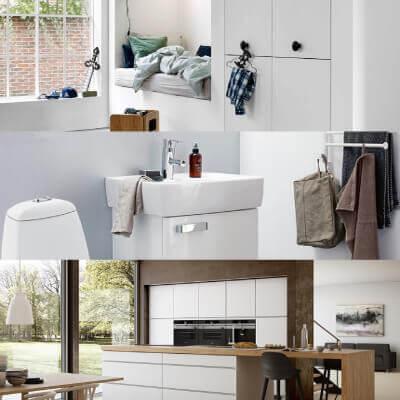 Køkken, bad og garderobe